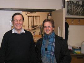 Oliver Schulte und Mark Venning, Geschäftführer von Harrison&Harrison.